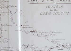 Map detail Swell to Tulbagh
